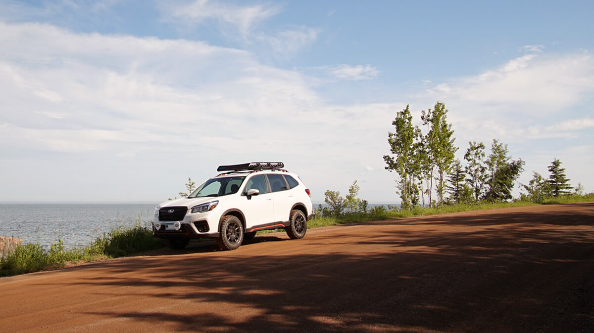 Modified 2019 Subaru Forester with a lift, and overland mods