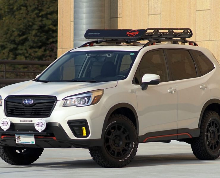 Lifted 2019 Subaru Forester Sport With A/T off-road tires