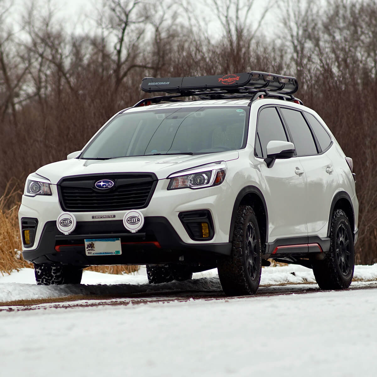 2019 Subaru Forester with a 2″ lift via the LP Aventure lift kit