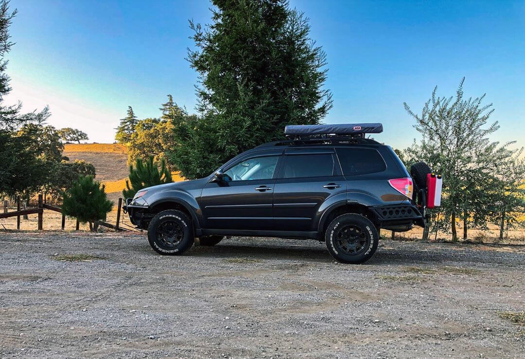 Subaru Forester with General Grabber AT2 Off-road tires, 215/75R15