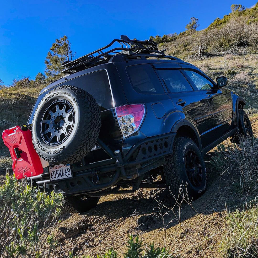 3rd gen Subaru Forester with a Custom Spare tire carrier