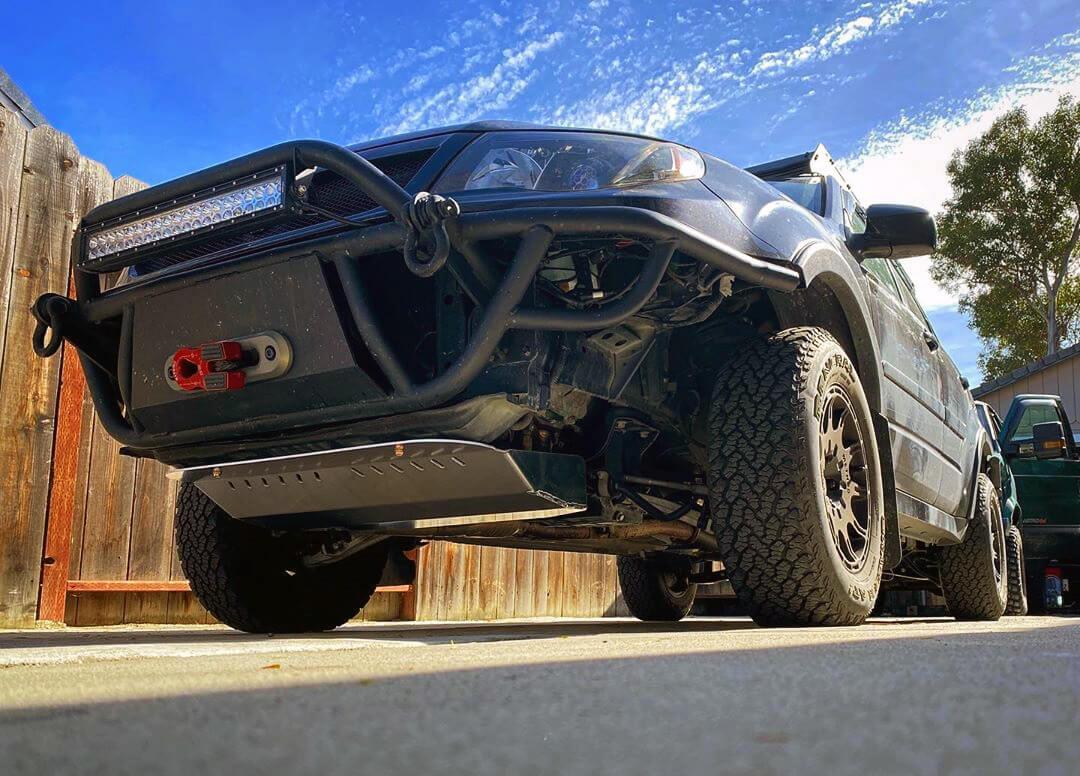 Subaru Forester with a Warn 8000 winch