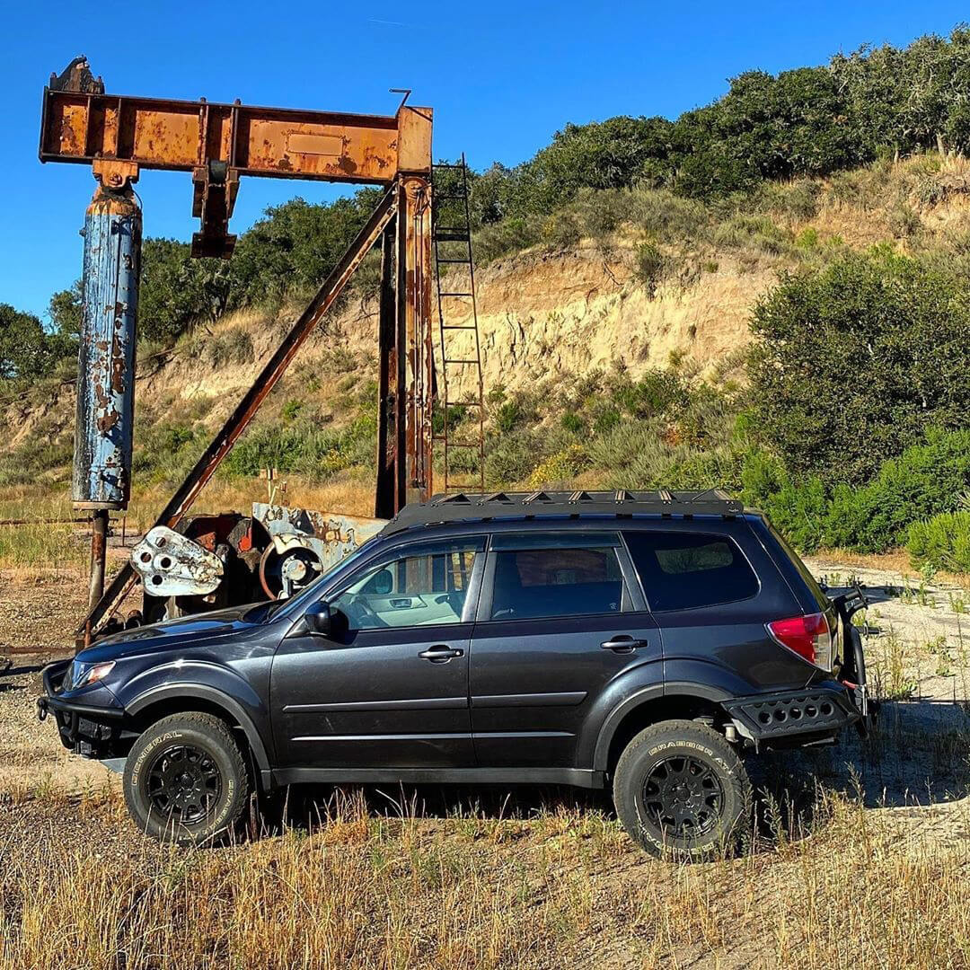 """Subaru Forester with a 2"""" lift and 30 inch off-road wheels"""