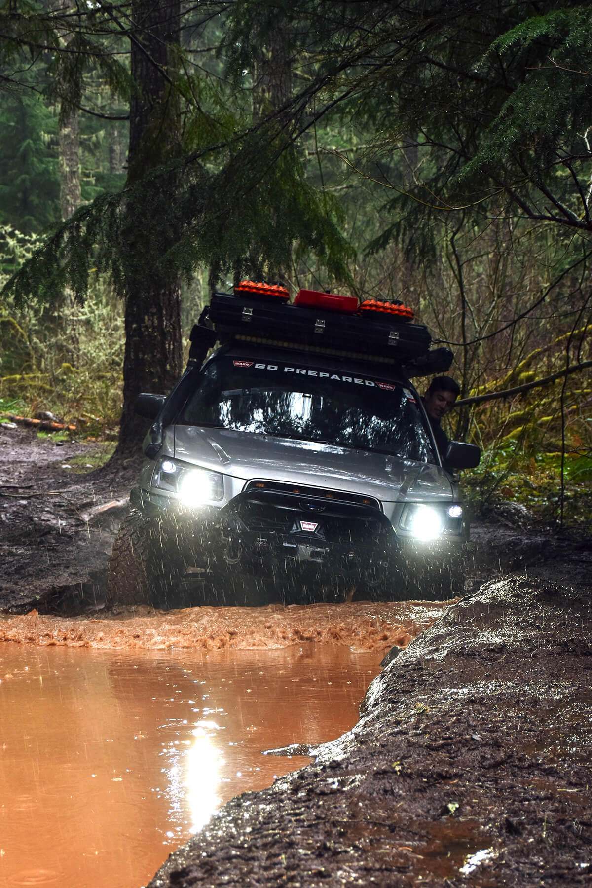 Subaru Forester XS offroading