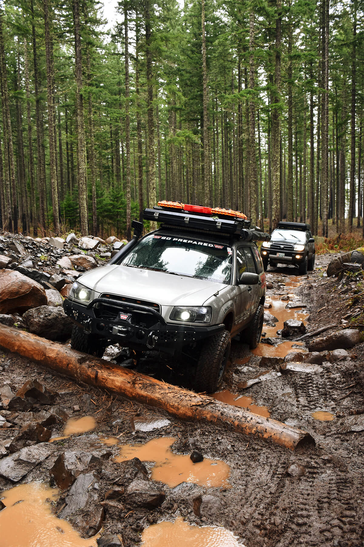 Subaru forester steel offroad bumper & Warn VR-8S 8000 lbs Winch
