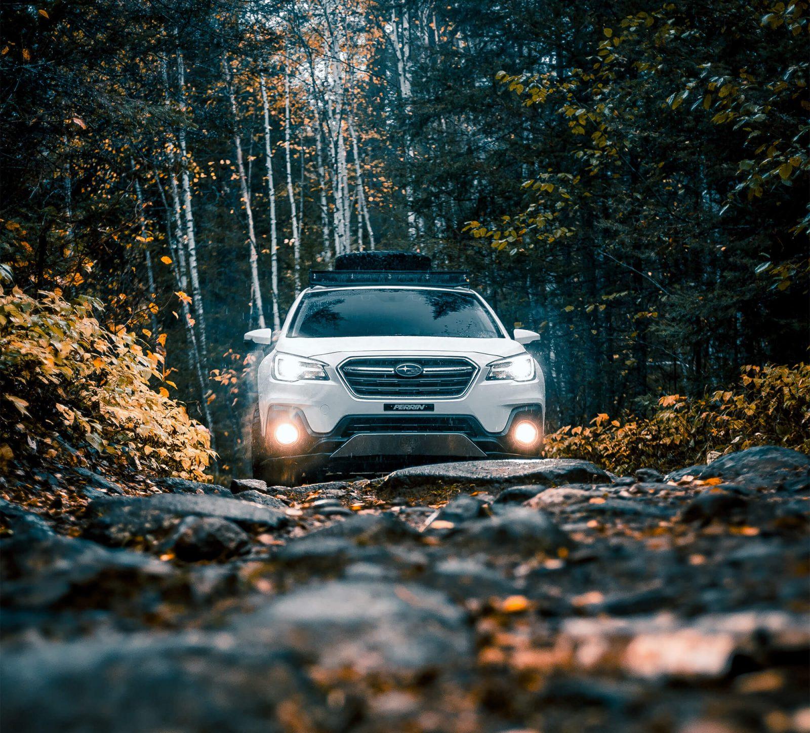 Lifted Subaru Outback offroading