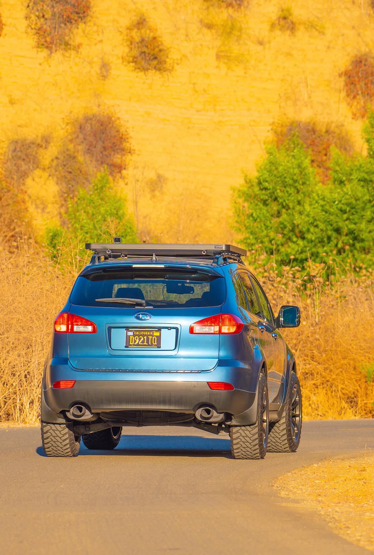 Subaru Tribeca with a roof rack