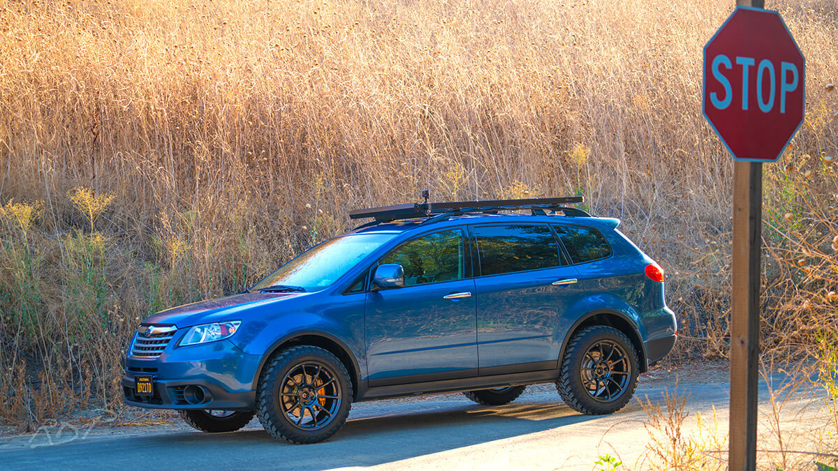 Subaru Tribeca 2 inch lift and mud tires