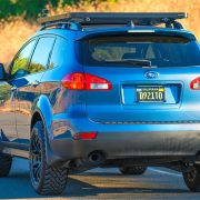 Lifted Subaru Tribeca rear view