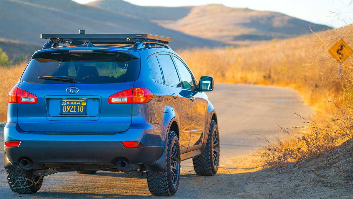 Lifted SUbaru Tribeca with Off-road wheels M/T