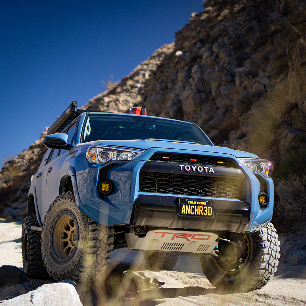 Blue lifted Toyota 4Runner offroad build - Voodoo blue