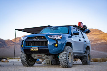 Blue toyota 4runner with trd offroad mods