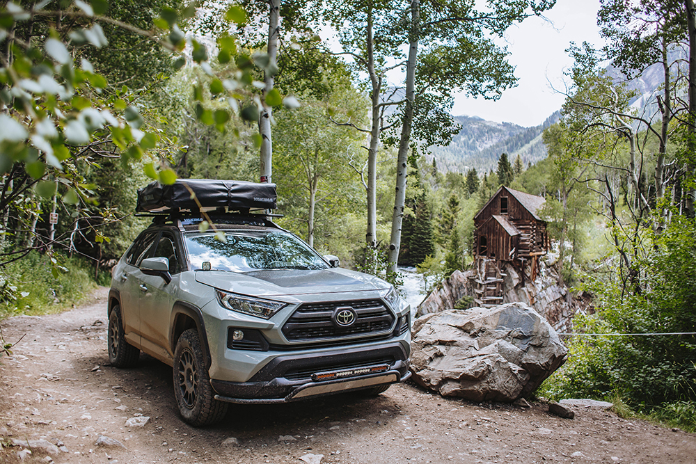"2019 TOYOTA RAV4 Adventure with a 2 inch lift and 31"" tires"