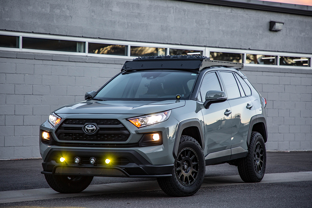 New toyota Rav4 with Prinsu Design Studios Full Lenth Roof Rack