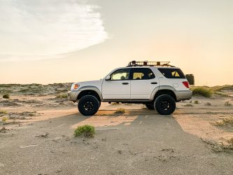 """Lifted First Generation Toyota Sequoia on 34"""" off-road tires"""