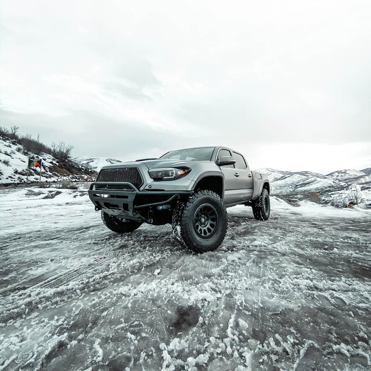 Toyota Tacoma daja style prerunner on snow