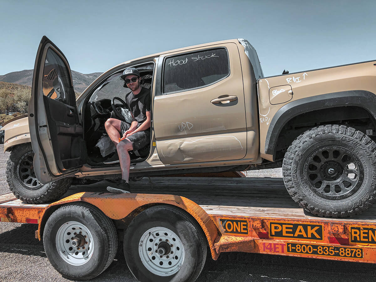 Totaled Toyota Tacoma truck restored for off-roading