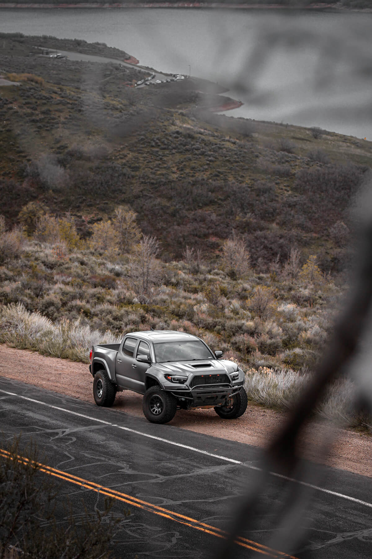 Toyota Tacoma wrapped in 3M 10180 Satin Dark Grey